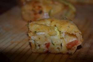 Cake fondant courgette tomates et chèvre par Marine en cuisine