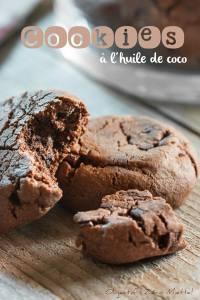 Cookies tout choco à l'huile de coco par Objectif Zéro Miettes
