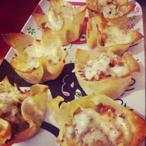Lasagnes cups par Aline Cuisine
