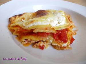 Lasagnes tomates courgettes et crème de chèvre par la cuisine de Rolly